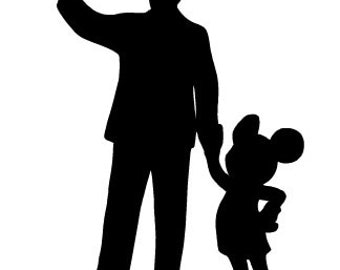 Walt and Mickey Partners Inspired Decal-FREE US SHIPPING