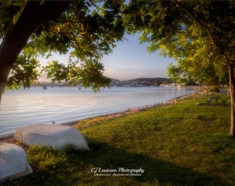 Belmont Lakefront - original photograph, digital download, landscape photo