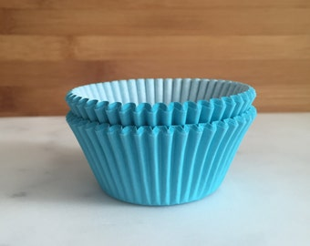 Bright Blue Cupcake Liners, Standard Sized, Baking Cups (50)