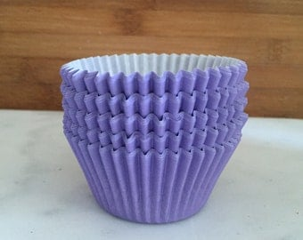 Solid Light Purple BakeBright Cupcake Liners, Taller Sized, Baking Cups (30)