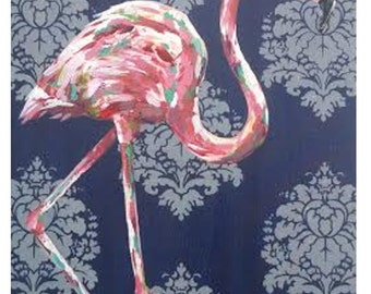 Flamingo (24 x 18 original acrylic painting on canvas board)