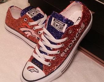 Denver Bronco Custom Glitter Converse (made in FULL SIZES only)