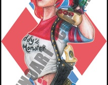 Harley Quinn Suicide Squad - Print - A5