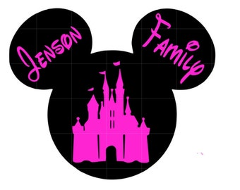 Personalized Mickey castle decal