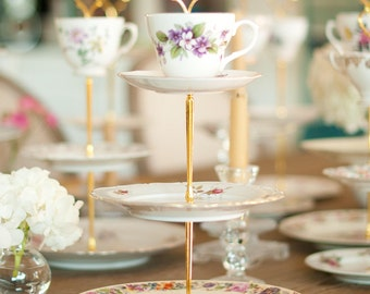 Vintage China Tiered Tea Stand/Cupcake Stand