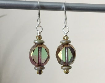 Czech Glass French Hook Earrings