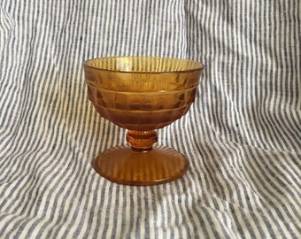 Crystal amber glass cup
