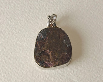 Pendant in Silver 925% Chalcopyrite and