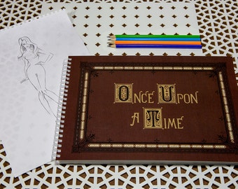 Once Upon A Time Journal, Henry's Book, Disney wedding, Fairy Tailes Notebook, Magic Notepad, Storybook Album for Drawing, BIG 18x27cm