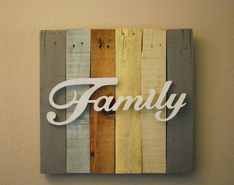 Pallet Wood Family Sign