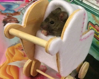 Cozy Carriage Hideout & Chew Toy (sized for Mouse or Dwarf Hamster)