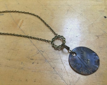 Upcycled Tool Tag Mens Necklace