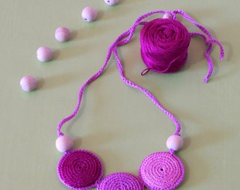 Bright crochet necklace