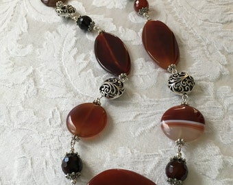 Fall Stone Necklace