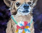 Dog Portrait Oil Painting, by Artist Robin Zebley, Chihuahua or any Breed, Custom Pet Portrait Art, Oil Painting from Photos, Artist Robin