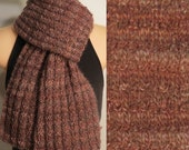 Hand Made Knit Wool Brown