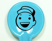 """spoon rest featuring a dude we think is saying """"Hey!"""" shown here in Cloudless - Made to Order/Pick Your Colour"""