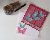Thank You Gift Card / Cash Pocket Handmade Large / Butterfly