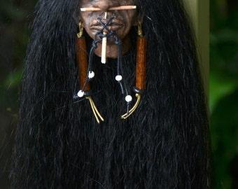 Shrunken Head,  Mini Mere Immortal, Hand Sculpted