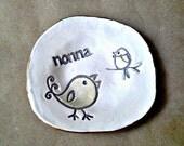Ceramic Trinket Bowl  edged in gold NONNA