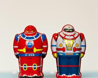 Fine Art Print, Robot Art, Wind Up Robots, Robot Photo, Retro Art, Boys Room Art, Whimsical Print, Vintage Toys, Square Print, Nursery Art