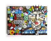 So What? (Original Handmade Mixed Media Mosaic Assemblage Wall Art by Shawn DuBois)