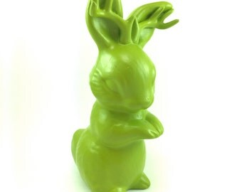 Jackalope ceramic Bunny with Antlers
