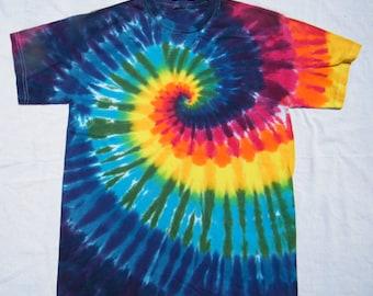 tie dye Rainbow Spiral  Shirt tye die CUSTOM MADE to order