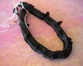 Sequins Vintage Strand Venetian RAVEN BLACK Diamonds full strand fringe lot 7mm