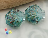 Lampwork Glass Beads Woodstock Shell