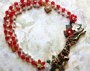 Cheetah Necklace - Panther Jewelry - Panther Necklace - Shaman Necklace - Spirit Animal - Animal Medicine - Animal Totem - Panther Totem