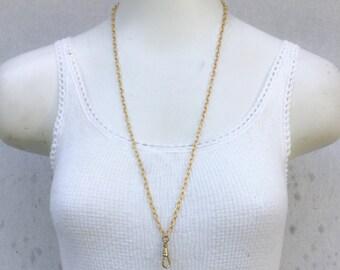 Matt Gold plated Lanyard/ antique gold/ Vintage Necklace *bulk wholesale lot options* Add A Charm swivel charm holder C18