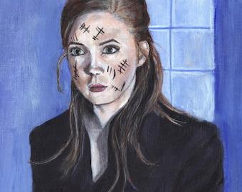 Doctor Who Amy Pond Karen Gillan Silence Acrylic Painting Art Print 11 x 16.5 inches