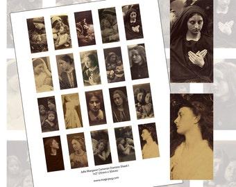"Julia Margaret Cameron Digital Collage Sheet I for domino 1x2"" 25mm x 50mm"