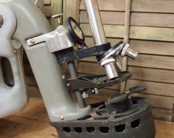 Vintage bioscope microscope in case School Industrial Chemistry Laboratory