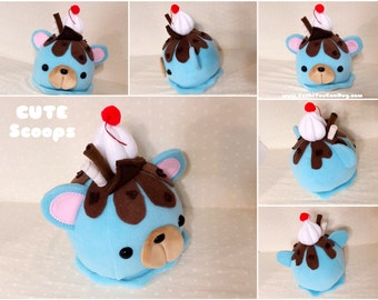 Cute Scoops- Chocolate Chip Mint Ice Cream-  READY TO SHIP