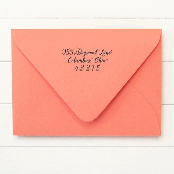 Custom Calligraphy Address Stamp / Return Address Stamp / Self Inking Return Address Stamp - MANUSCRIPT DESIGN - Housewarming Gift