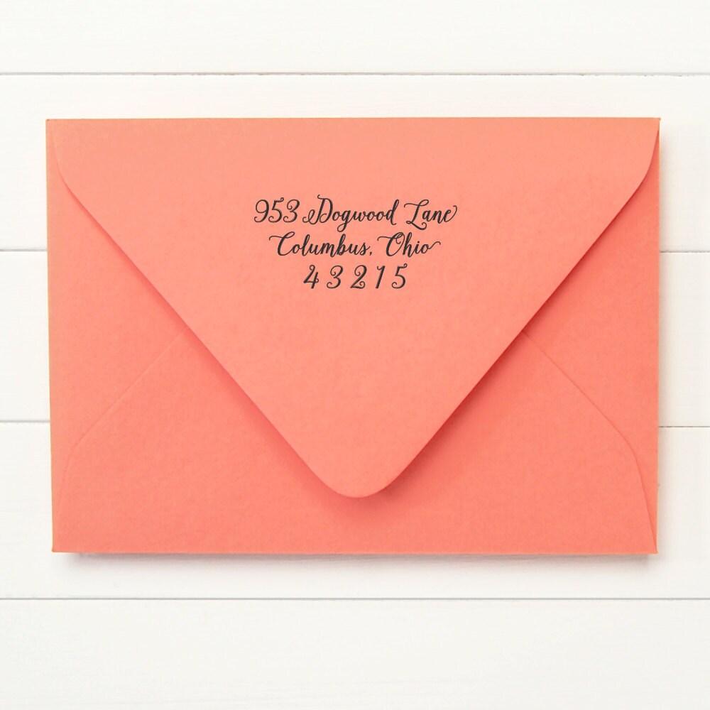 Custom Calligraphy Address Stamp Return Address Stamp Self