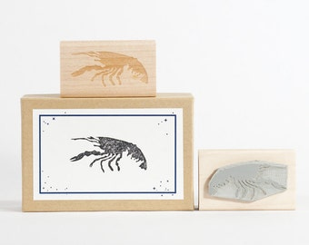 Crawfish Rubber Stamp Louisiana Made