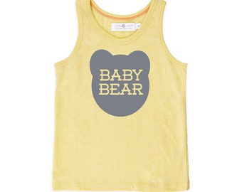 Baby Bear Organic Cotton Tank Top - Family Photos, Summer Kids Outfit