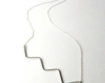Stairway Necklace, sterling silver