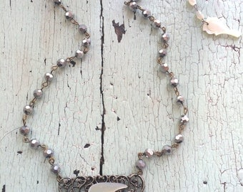 Mother of Pearl Dove Necklace