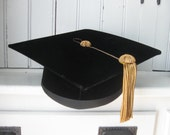 HOLD CHRISTINE1976 E.R.Moore 4 Point Velvet Tam with Metallic Gold Tassel in Box Cornell University