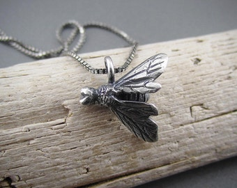 Handmade Sterling Silver Charm - Honeybee