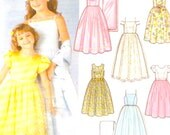 Flower girl dress Design your own with shawl Wedding party Event Sewing pattern Simplicity 7113 Sz 3 to 6 UNCUT