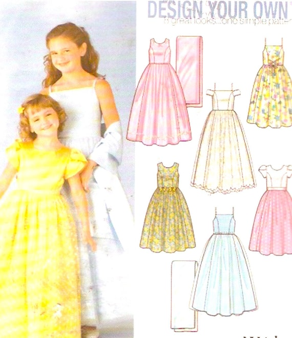 Make Your Own Wedding Dress: Flower Girl Dress Design Your Own With Shawl Wedding Party