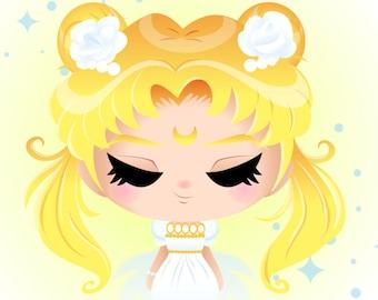 SALE!  Sailor Moon - Princess Serenity - Usagi Tsukino Digital Download Print