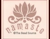 Namaste Stencil, Lotus Flower Stencil, Word Stencil, Yoga Stencil, Namaste, Mylar Stencil, Lotus Flower, Painting Stencil, reusable stencil