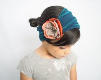 Teal Headband for Women Headbands for Kids Soft Cotton Hair Accessories Headwrap Nonslip Headband Yoga Headband Fitness Headband Baby Turban