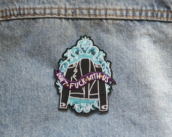 Grrrl Gang Iron-on Embroidered Patch